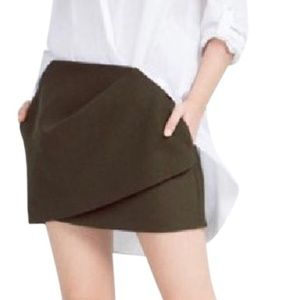 Zara Green Draped Skirt